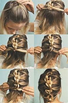 quick and simple updo hairstyles for medium hair popular haircuts