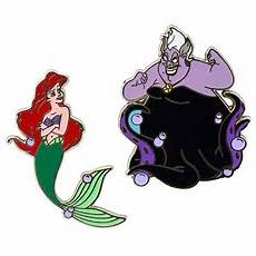 ursula and ariel writing disney princess pin ariel and ursula pin set