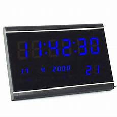 multi led digital display wanduhr mit datumanzeige alarm