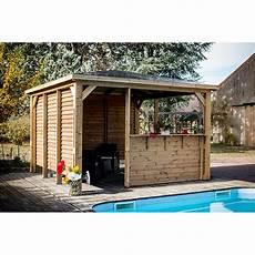 Pool House Blueterm 3 5x3 5m Avec Vantelles Et Comptoir