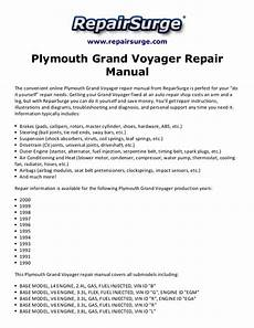 car repair manuals download 1992 plymouth voyager navigation system plymouth grand voyager repair manual 1990 2000