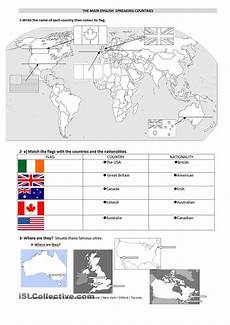 speaking countries free worksheets 18626 the speaking countries avec images apprendre l anglais cours anglais civilisation