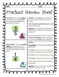 fraction review worksheets 4078 fractions review sheet ii gcf lcm lcd mixed numbers equivalent and improper fractions