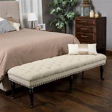 bedroom bench tufted upholstered ottoman living room furniture wheeled seat new ebay