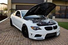 bmw m6 build swaps v10 for six rotor engine carscoops