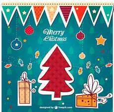 colorful vintage merry christmas vector free vector