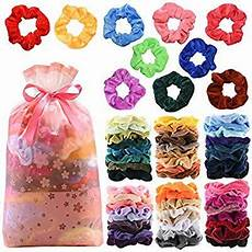 amazon com 60pcs premium velvet hair scrunchies hair