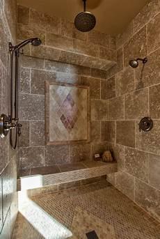 carrelage salle de bain travertin mediterranean doorless shower designs bathroom