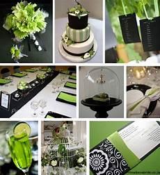 Green Black White Wedding Theme