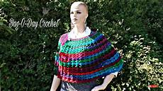 Crochet How To Crochet Easy V Stitch Shawl Cape