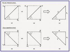 phasor diagram and impedance triangle electrical engineering pinterest triangles