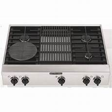 Kitchenaid Cooktop With Grill by Kitchenaid Kgcp462kss 36 Quot Sealed Burner Commercial Style
