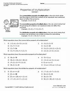 properties of multiplication worksheets grade 1 4943 properties of multiplication worksheet for 3rd 6th grade lesson planet