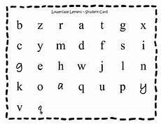 worksheets letter mix up 24280 lowercase letter recognition test student card by tpt