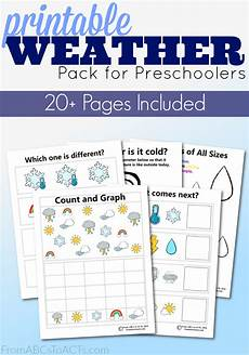 weather activity worksheets for kindergarten 14490 printable preschool weather activity pack from abcs to acts