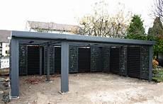 carport geschlossen mit tor gabionen carport steelmanufaktur traum vom haus in