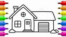 house coloring pages 17594 house with garage coloring book and learn colors for