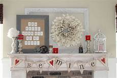Decorating Ideas For January And February by Whimsical Treasures Mantel