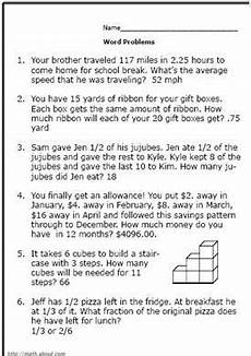 math word problems worksheets and answers 10974 6th grade math worksheets with answer key briefencounters