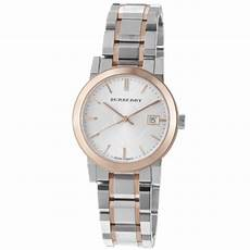 Burberry S Bu9105 Large Check Two Tone Stainless