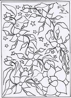 Gambar Bunga Yang Belum Diwarnai Koleksi Gambar Bunga