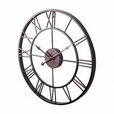 Lhbl Large Vintage Style Statement Metal Wall Clock