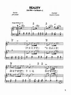 reality la boum free piano sheet music