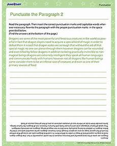 punctuation worksheets for grade 2 20692 punctuate the paragraph 2 free punctuation worksheet jumpstart