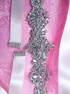 rhinestone ends do it yourself bridal sash ribbon