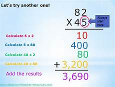 traditional multiplication worksheets partial product multiplication algorithm presentation and