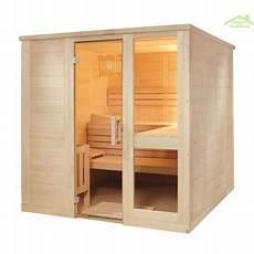cabine de sauna cabine de sauna komfort small de sentiotec 208x158 cm