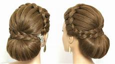 beautiful wedding bun hairstyle for hair youtube