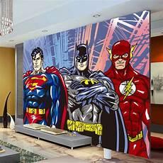 custom 3d wall murals batman superman flash wallpaper photo wallpaper kids bedroom