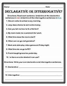 interrogative worksheets 18912 declarative and interrogative sentences bundle by catherine moreno