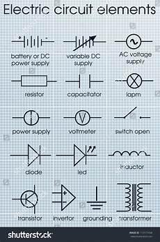 electric circuit symbol element stock vector 113177458