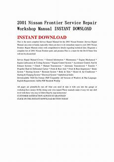 how to download repair manuals 2001 nissan frontier transmission control 2001 nissan frontier service repair workshop manual instant download by hfgsbefhnsebb issuu