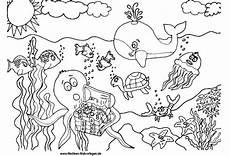 Ausmalbilder Unterwasser Tiere Ausmalbilder Unterwasserwelt Ausmalbilder