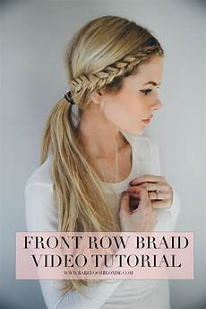 front row braid tutorial barefoot by fillerup clark