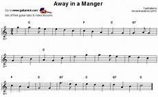 beginner songs on guitar away in a manger easy guitar lesson guitarnick