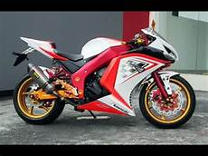 Warna Motor Keren by Modifikasi Motor Kawasaki 250 Warna Putih