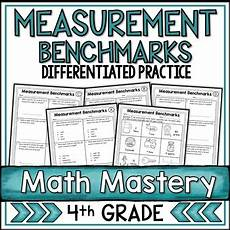 measurement benchmarks worksheets by shelly rees tpt