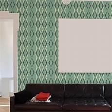 tapeten vintage tapete deco diamond enamel green die tapetenagentur