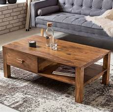 Designer Couchtisch Holz - buy solid wood capital coffee table with shelf drawer