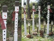 Gartendeko Aus Holz Weihnachten Selber Machen Tischbeine