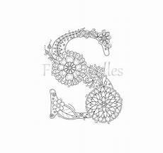 Ausmalbilder Erwachsene Buchstaben Coloring Page Floral Letters Alphabet S