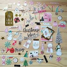 zfparty 65pcs merry christmas cardstock die cuts for scrapbooking happy planner card making