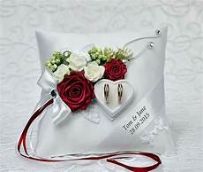 personalized wedding ring cushion pillow with rings holder box 2585847 weddbook