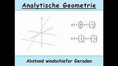 abstand windschiefer geraden berechnen analytische