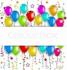 ballons mit konfetti bunte ballons konfetti mit vektorgrafik