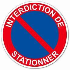 autocollant interdiction de stationner autocollant et panneau interdiction de stationner